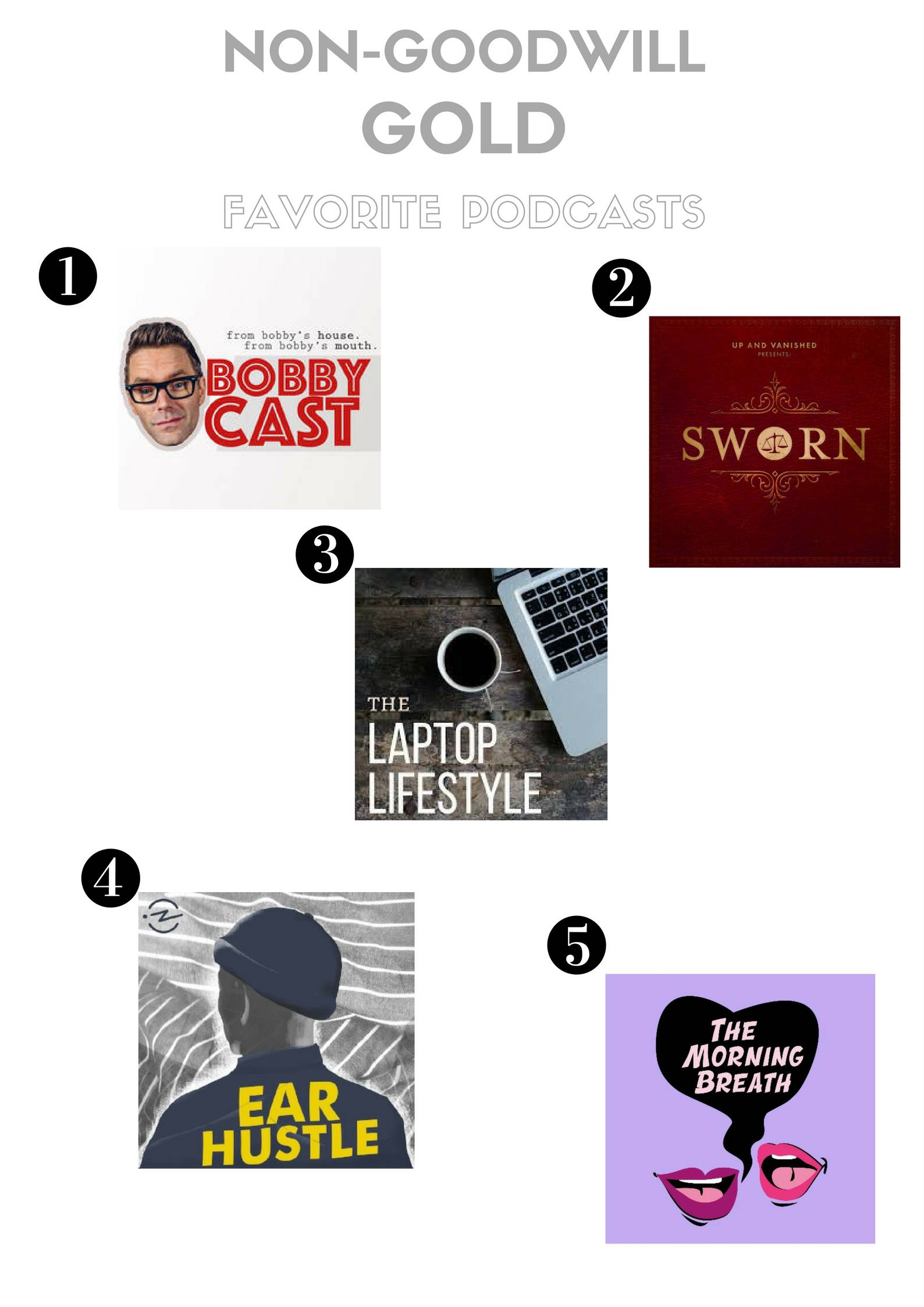 Non-Goodwill Gold: My 5 Favorite Podcasts