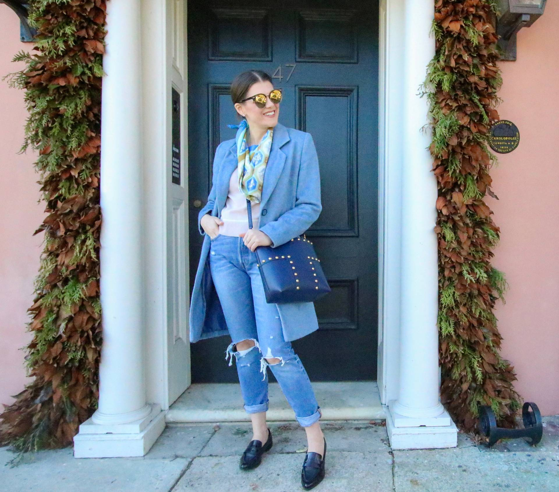 5 Ways to Style a Square Scarf